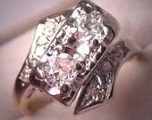 Antique Art Deco Diamond Ring Vintage Wedding Ring