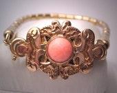 Antique Victorian Gold Coral Bracelet Vintage Estate