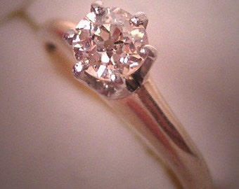 Antique Diamond Wedding Ring Platinum Vintage Victorian Art Deco c.1900 Engagement