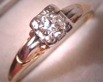 Antique Diamond Wedding Ring Art Deco Engagement Ring