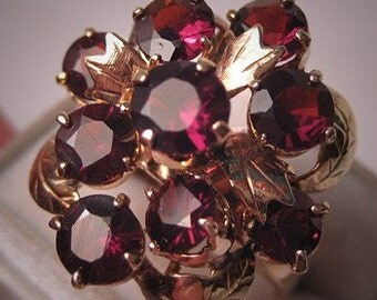 ON SALE 15% OFF Antique Garnet Ring Vintage Art Deco Gold