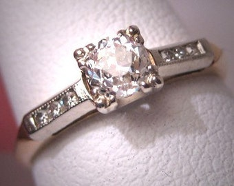 Antique Vintage Diamond Wedding Ring Art Deco Engagement