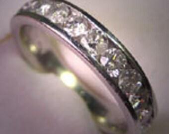 Vintage Platinum Diamond Wedding Band Ring 1ct 7 SI2 E