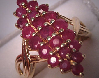 Vintage Moghul Style Ruby Ring Estate Fine Gold Jewelry