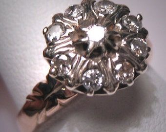 Antique Diamond Wedding Ring Vintage Victorian Georgian