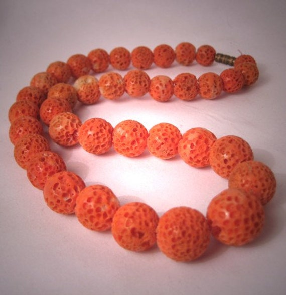 Antique Coral Necklace Vintage Art Deco By Aawsombleijewelry