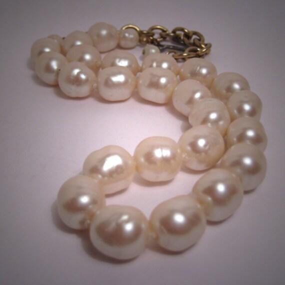 Vintage Gripoix Glass Pearls Large 12mm Designer Jewels