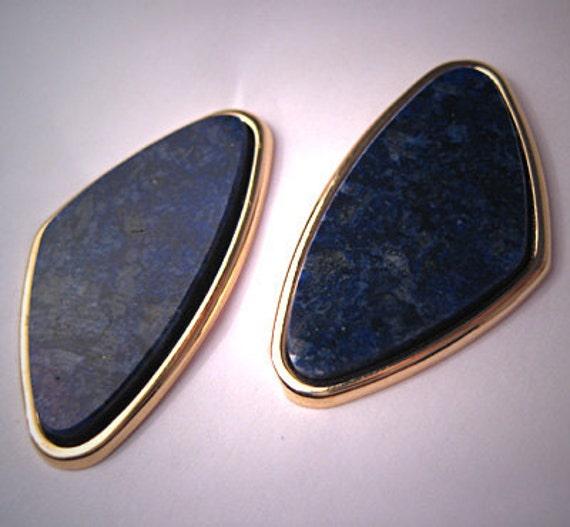 ON SALE 20% Off Estate Lapis Earrings 14K Gold Fine Vintage Jewelry