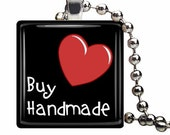Buy Handmade Glass Tile Pendant