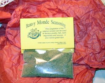 Beau Monde Seasoning Mix, Hand-blended Herb Cooking Mix, gluten free, salt free