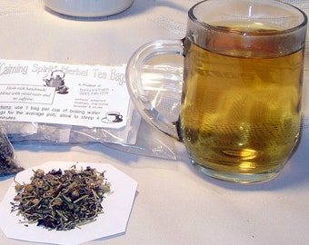 Loose Herbal Tea, Calming Spirit, mint, lavender, cloves, no caffeine