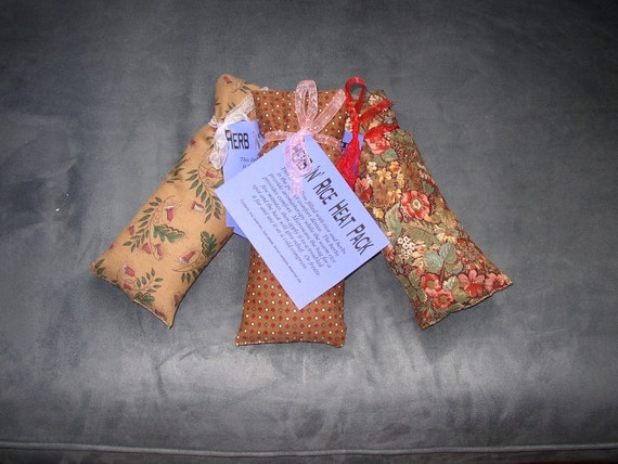 Herb and Rice Filled Muscle Relaxing Heat Bag, lavender,  rose, lemon