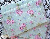 Reserved for Lesley Laura Ashley Soft Green and Pink Roses Fat Quarters and Roses Swirl Fat Quarter