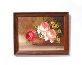 Vintage Floral Bouquet Oil Painting Original