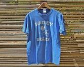 vintage blue bailey bears football t shirt