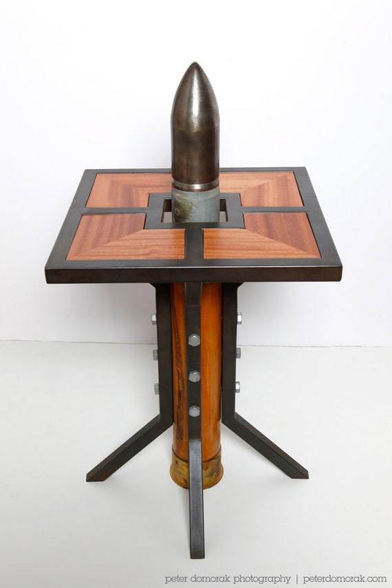 Silo End Table - WWII Naval Round