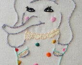 Eleanor  Circus Elephant Embroidery Pattern