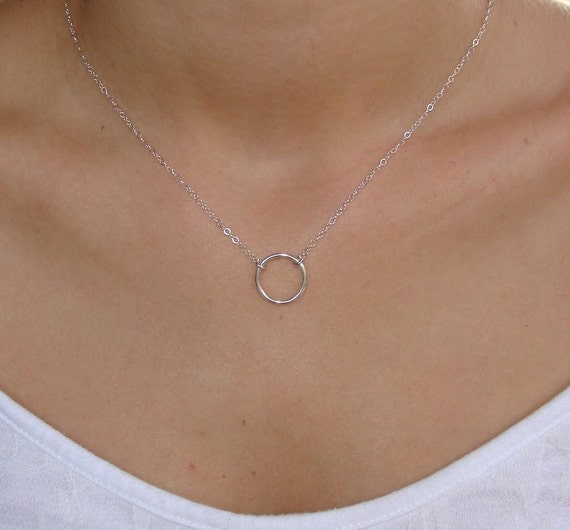 sterling silver eternity circle necklace small by lisaloren