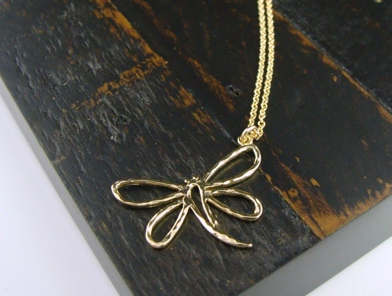 Dragonfly Necklace - Gift for her, BFF, Friend, Strength Gift, Mom, Girlfriend, Teacher Gift, Bridesmaid Gifts, Good Luck Charm