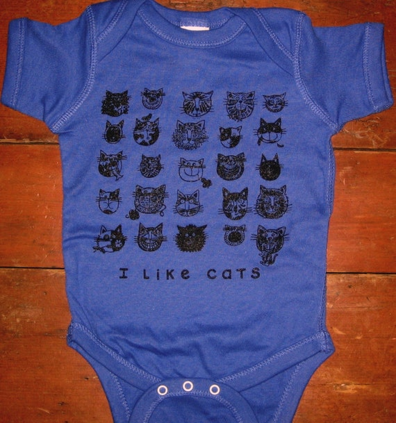 Cats Royal Blue Onesie