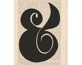 dictionary art typography print AMPERSAND 2 book page print