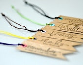 Kraft Paper Tags with Wax Cotton Cord x 10