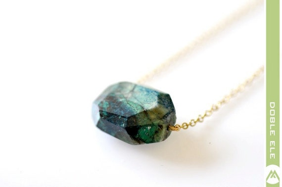 Chrysocolla Nugget Necklace