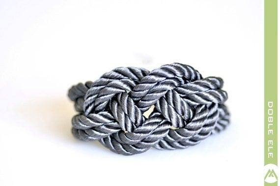 Sailor Knot Bracelet - Gray