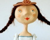 Lola has a goose toy ooak art doll