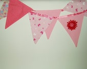 Decoration pink fabric banner