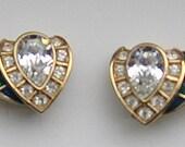 Egyptian Inspired Art Deco Earrings