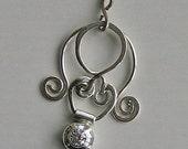 Wedding Pendant Silver and Cubic Zircon
