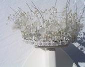 Bridal Tiara, Crown, Headress,  Modern Design, Unique Bridal Headress