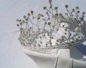 Bridal Headress, Rhinestone Tiara, Unique Design, Wedding Accessories