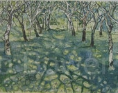 Watercolour Print and Painting of Dappled Light