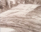 Aceo Etching of a Landscape