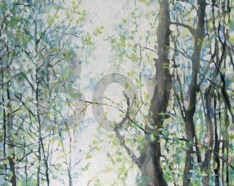 Painting Trees Light and The Woods