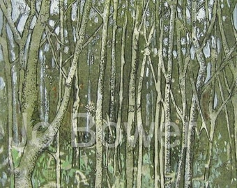 Print Green Trees From Original Painting