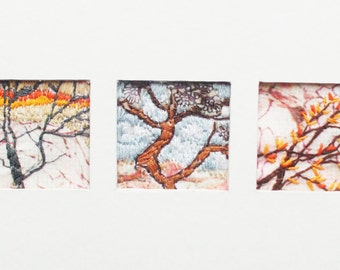 Textile Trees Mixed Media Embroidery
