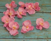 Silk Flowers - 10 Pink Orchids - 1.75 Inches - Artificial Orchids