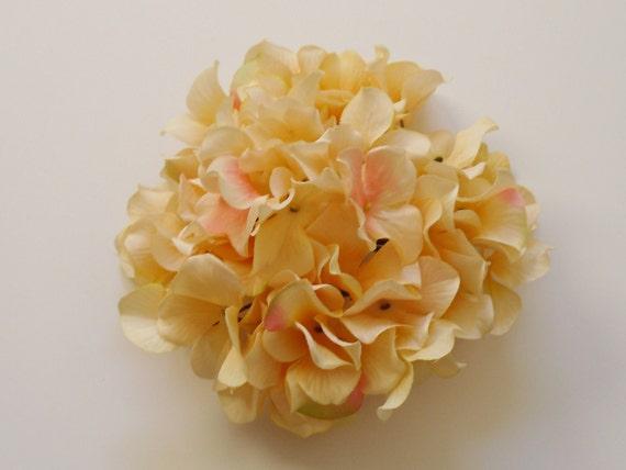 Peach Hydrangea - One Hydrangea Head in Shades Peach - Artificial Flowers