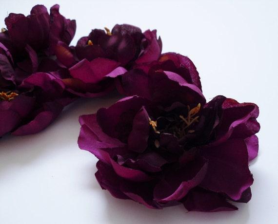 Destash -  FOUR Raspberry Purple Peonies - 6 Inches - Budget Flowers - AS IS - No Returns