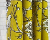 Standard Tub Shower Curtain - Dwell Vintage Birds  - Free Shipping - Pick your color