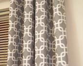 Trellis Link Designer Window Curtain Panels - Pair 84-88 inch - FREE SHIPPING