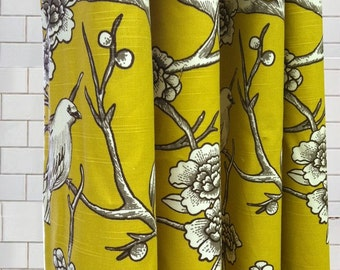 Stall Size Shower Curtain - Dwell Vintage Birds  - Free Shipping - Pick your color