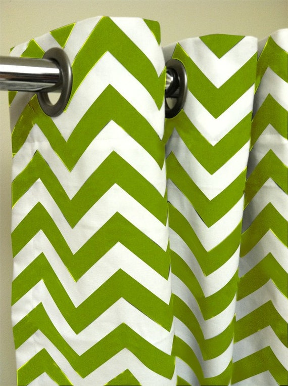 Shower Stall Shower Curtain - Premier Decorator Zig Zag Chevron  - Pick your color