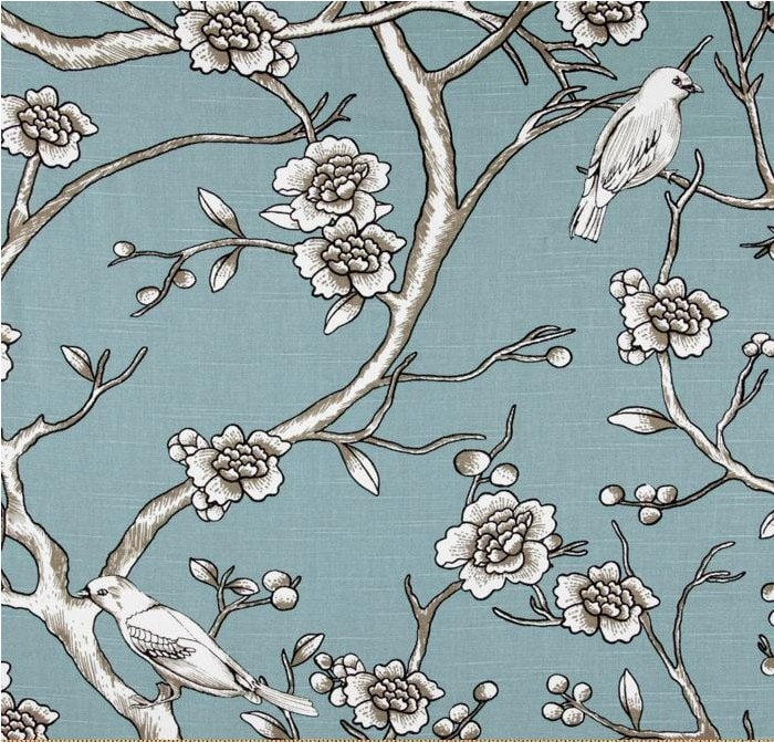 dwell vintage bird and branch panel curtains by maisonboutique