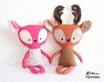 Deer Fawn Sewing Pattern PDF Softie Stuffed Toy