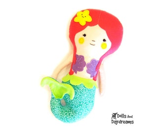 Mermaid Doll PDF Sewing Pattern Softie Instant Download