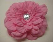 Bubblegum Pink Flower Clip
